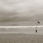 M. Morgan ~ Red Flagged, Manly Beach, Australia, Feb. 22, 2011, the day of the Christchurch, NZ earthquake.